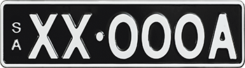 Premium Standard - White on Black example