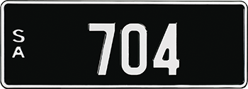 White numbers on black background - Numeric plate example